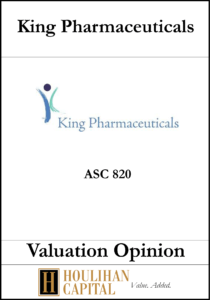 King Pharmaceuticals - ASC 820 - Valuation Opinion Tombstone