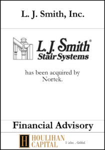 L.J. Smith Inc - Financial Advisory Tombstone