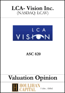 LCA Vision - ASC 820 - Valuation Opinion Tombstone