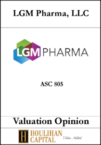 LGM Pharma - ASC 805 - Valuation Opinion Tombstone
