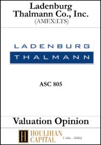 Ladenburg Thalmann Co - ASC 805 - Valuation Opinion Tombstone