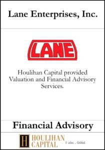 Lane Enterprises - Financial Advisory Tombstone