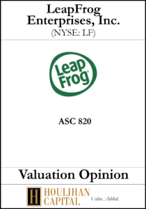 Leap Frog Enterprises - ASC 820 - Valuation Opinion Tombstone