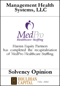 Management Health Systems - Solvency Opinion Tombstone