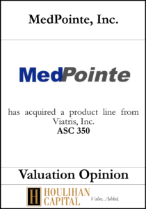 MedPointe - ASC 350 - Valuation Opinion Tombstone