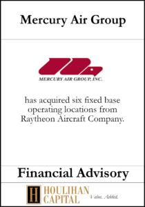 Mercury Air Group - Financial Advisory Tombstone