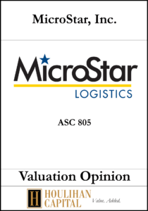 Microstar - ASC 805 - Valuation Opinion Tombstone