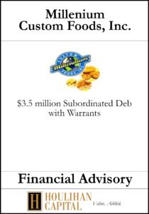 Miller's American Honey, Inc. - Financial Advisory Tombstone