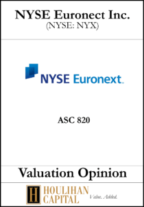 NYSE Euronect Inc - ASC 820 - Valuation Opinion Tombstone