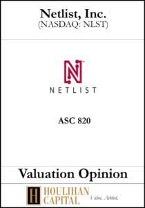 Netlist Inc. - ASC 820 - Valuation Opinion Tombstone