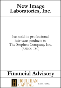 New Image Laboratories, Inc. - Financial Advisory Tombstone