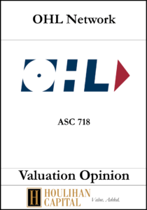 OHL - ASC 718 - Valuation Opinion Tombstone