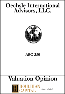 Oechsle International Advisors - ASC 350 - Valuation Opinion Tombstone