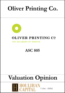 Oliver Printing Co - ASC 805 - Valuation Opinion Tombstone