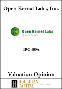 Open Kernal Labs, Inc. - 409A - Valuation Opinion Tombstone