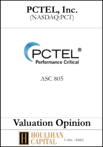 PCTEL - ASC 805 - Valuation Opinion Tombstone