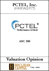 PCTEL - ASC 350 - Valuation Opinion Tombstone