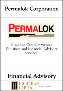 Permalok Corporation - Financial Advisory Tombstone