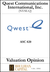 QWEST Communications International, Inc. - ASC 820 - Valuation Opinion Tombstone