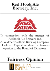 Red Hook Ale Brewery , Inc. - Fairness Opinion Tombstone