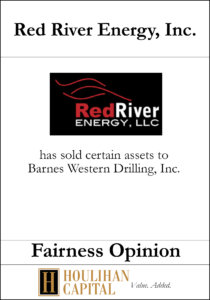 Red River Energy - Fairness Opinion Tombstone