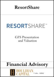 ResortShare - Financial Advisory Tombstone