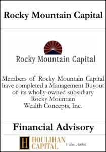 Rocky Mountain Capital - Financial Advisory Tombstone