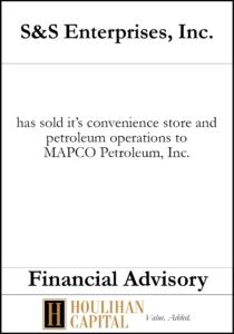S&S Enterprises - Financial Advisory Tombstone