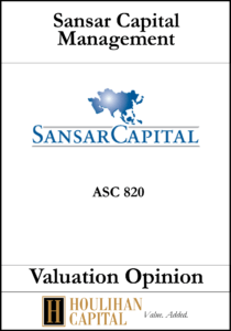 Sansar Capital Management - ASC 820 - Valuation Opinion Tombstone