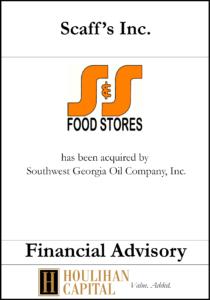 Scaff's Inc - Financial Advisory Tombstone