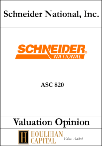 Schneider National, Inc - ASC 820 - Valuation Opinion Tombstone