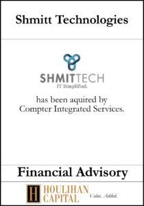 Shmitt Technologies - Financial Advisory Tombstone
