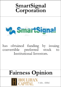 Smart Signal - Fairness Opinion Tombstone