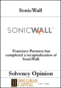 Sonicwall - Solvency Opinion Tombstone
