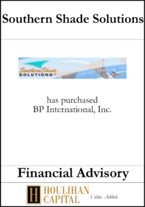 Southern Shade Solutions - Financial Advisory Tombstone