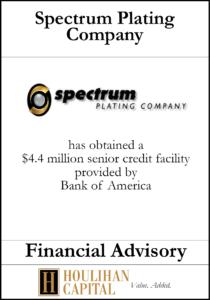 Spectrum Plating Company - Financial Advisory Tombstone