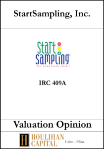 StartSampling - 409A - Valuation Opinion Tombstone