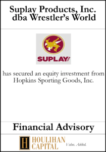 Suplay Products Inc - Financial Advisory Tombstone