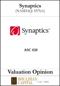 Synaptics - ASC 820 - Valuation Opinion Tombstone