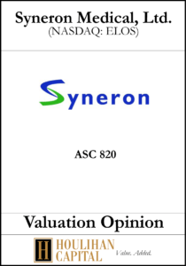 Syneron Medical - ASC 820 - Valuation Opinion Tombstone