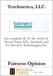 TestAmerica - Fairness Opinion Tombstone