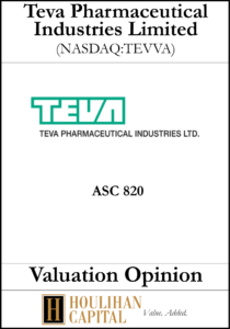 TEVA Pharmaceutical Industries Limited - ASC 820 - Valuation Opinion Tombstone