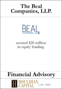The Beal Companies - Financial Advisory Tombstone