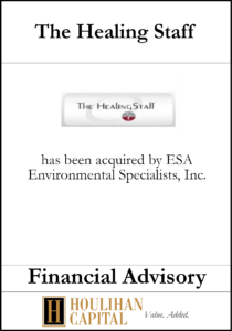 The Healing Staff - Financial Advisory Tombstone