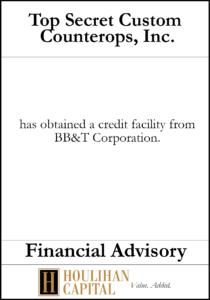 Top Secret Custom Countertops - Financial Advisory Tombstone