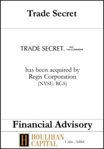 Trade Secret - Financial Advisory Tombstone