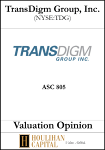 Transdigm - ASC 805 - Valuation Opinion Tombstone