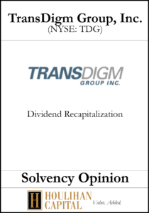 Transdigm - Solvency Opinion Tombstone