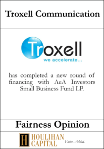 Troxell Communication - Fairness Opinion Tombstone