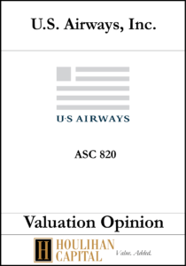 US Airways - ASC 820 - Valuation Opinion Tombstone